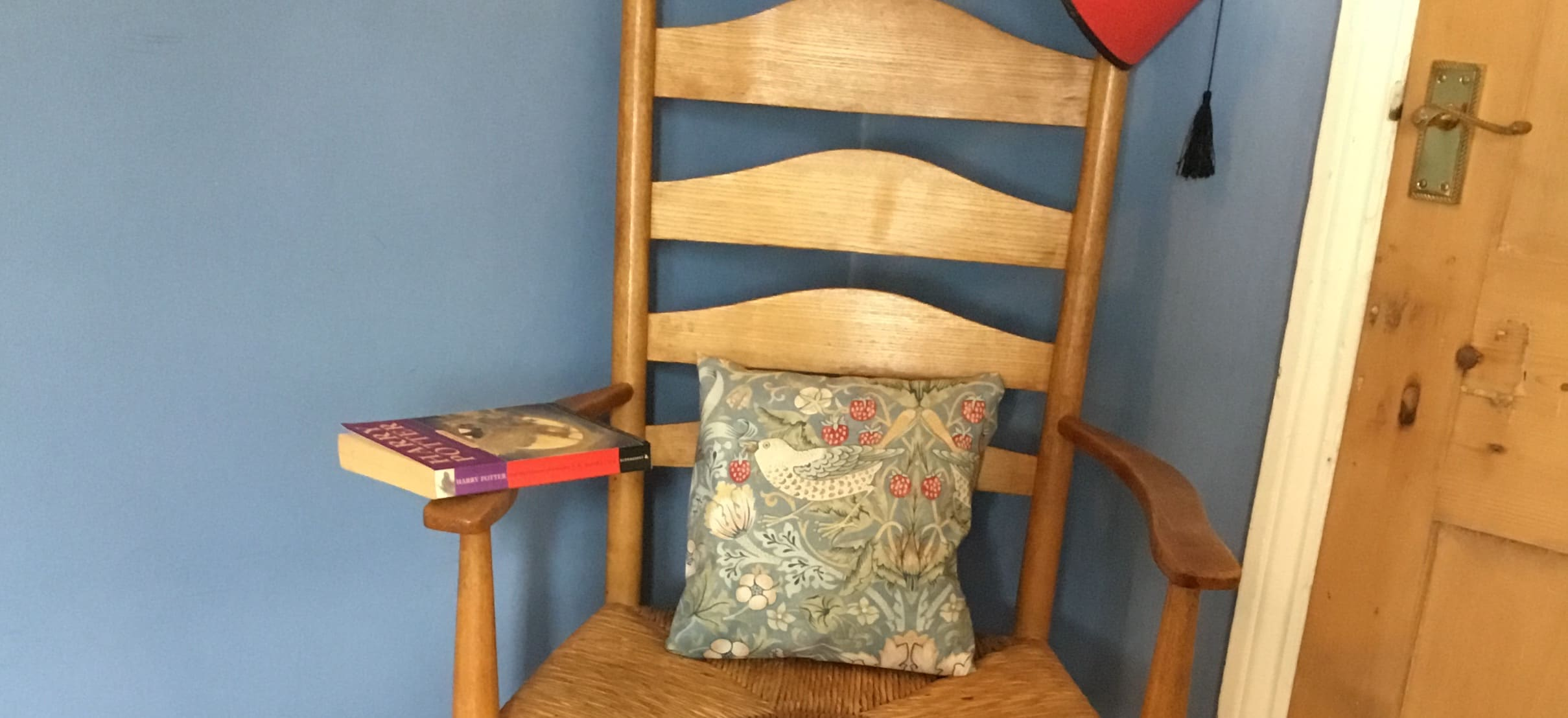 Farrow and Ball in a reading corner